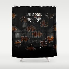 Distracting a Ghost: 1st Rendition  Shower Curtain