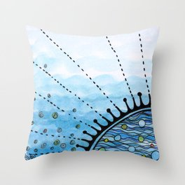 Little sea Throw Pillow