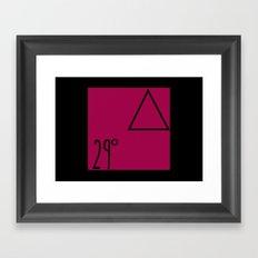 29 degrees Framed Art Print