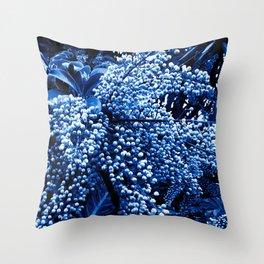 Botanica blue Throw Pillow