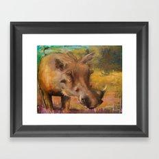 Common Warthog (Phacochoerus africanus)  Framed Art Print