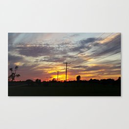 Oklahoma Country Sunset Canvas Print