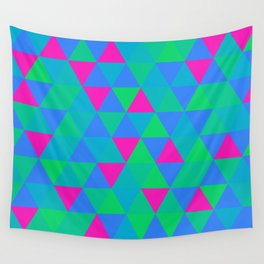 Polysexual Pride Varied Alternating Triangles Pattern Wall Tapestry