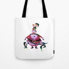 Decorating Santa Tote Bag