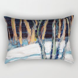 White Birch Grove / Dennis Weber / ShreddyStudio Rectangular Pillow
