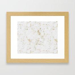 Marble Gold Mine Framed Art Print