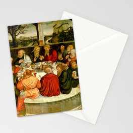 """Lucas Cranach the Elder """"The Last Supper (with Luther among the Apostles)"""" Stationery Cards"""