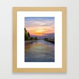 Ballard Locks at Sunrise Framed Art Print