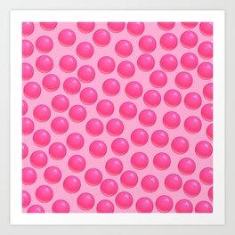 Bubblegum Pop - Pink Sugar Art Print