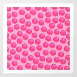 Bubblegum Pop - Pink Sugar Art Print