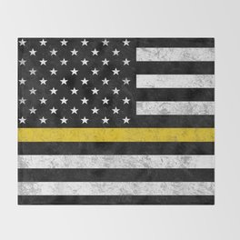 Thin Gold Line Throw Blanket
