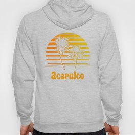 Acapulco Mexico Sunset Palm Trees Hoody