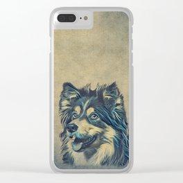 Shetland Sheepdog Painting Clear iPhone Case