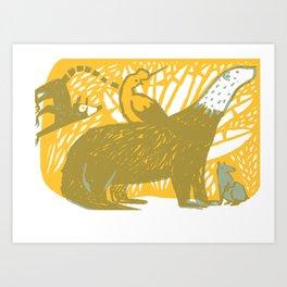 Andean fauna Art Print