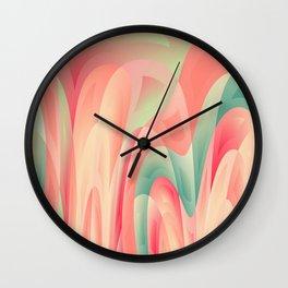 Abstract color harmony Wall Clock