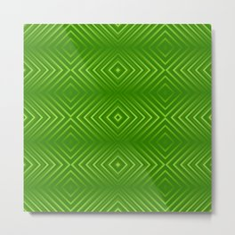 Green gradient rhombic tiles Metal Print