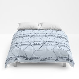 Simply Tribal Shibori in Indigo Blue on Sky Blue Comforters