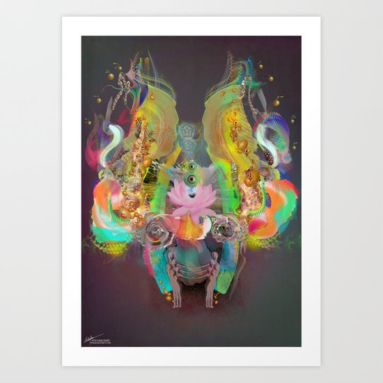 Illuminated Dream Field Art Print
