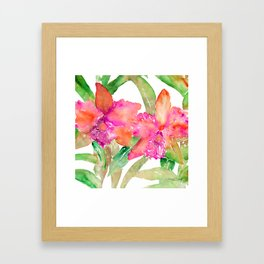 ORCHID LOVE Framed Art Print