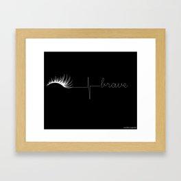 Brave (negative) Framed Art Print