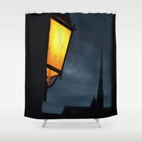 nightmare Shower Curtains featuring Nightmare by Angela Floridia