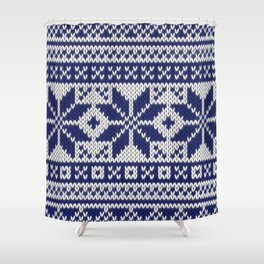 Winter knitted pattern 5 Shower Curtain