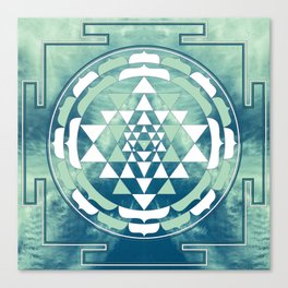 Sri Yantra Sky Mandala Canvas Print