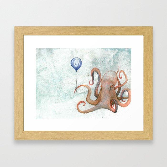 doom balloon Framed Art Print