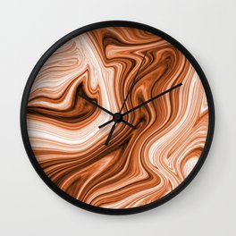 wood ripple marble Wall Clock