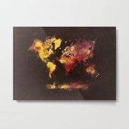world map 63 Metal Print