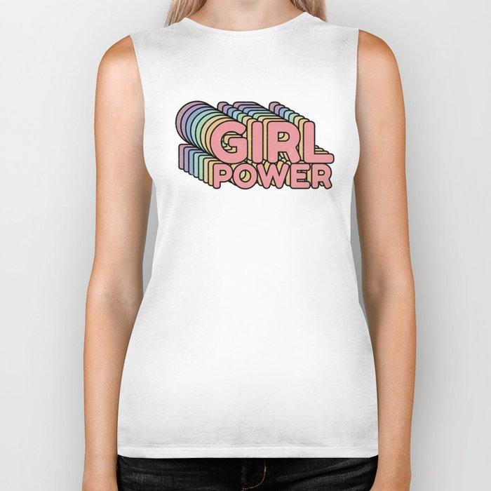 Girl Power grl pwr Retro Biker Tank