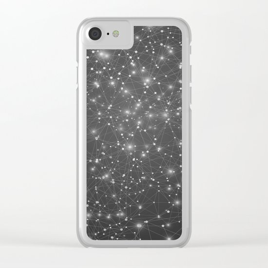 Logic Will Get You From Point A to Point B (Geometric Web/Constellations) Clear iPhone Case
