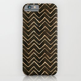Gold Star Dust Chevron Lines Pattern iPhone Case