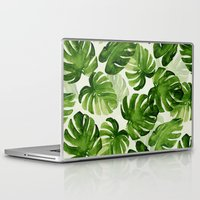 tropical Laptop & iPad Skins featuring TROPICAL by judith van den hoek