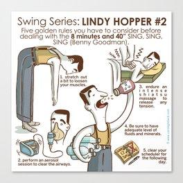 SWING SERIES: LINDY HOPPER #2 Canvas Print