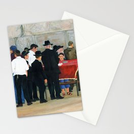 Kotel minyan (praying at the Western Wall Jerusalem) Stationery Cards