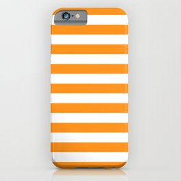 Sacral Orange and White Stripes iPhone Case