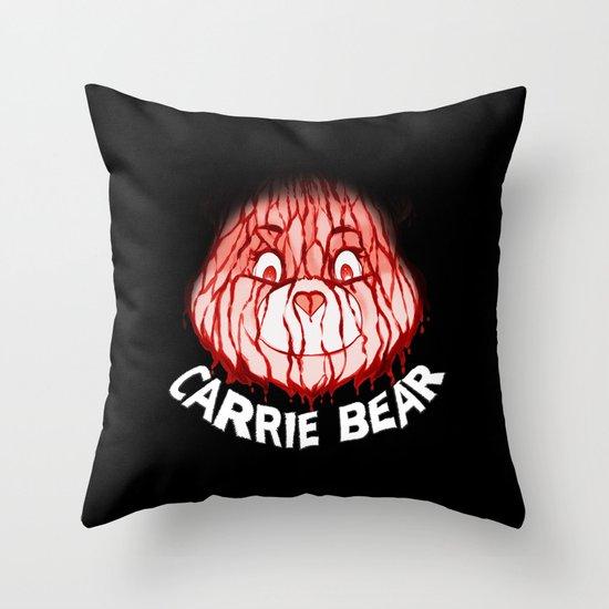Carrie Bear Throw Pillow
