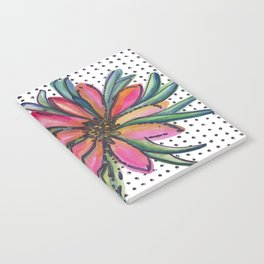 A flower on scribbled dots Notebook