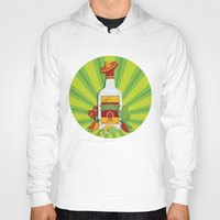 tequila Hoodies featuring Tequila Time by Matt Andrews