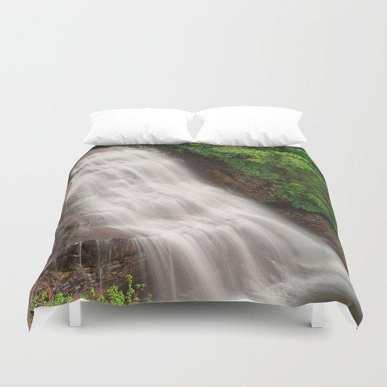 Muddy Creek Falls Duvet Cover