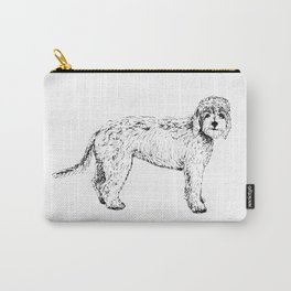 Labradoodle/Goldendoodle Ink Drawing Carry-All Pouch