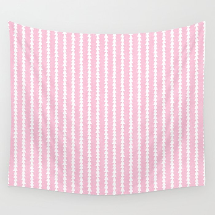 Tiny Triangles Stripes in Pink