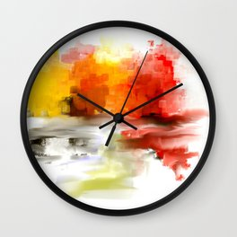 Impressionist's Abstract Landscape  Wall Clock