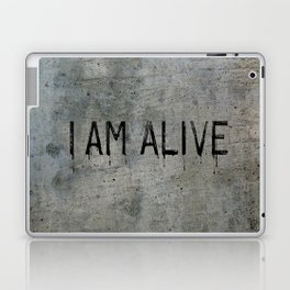 I AM ALIVE - Black - Detroit: Become Human Deviant Writing Laptop & iPad Skin