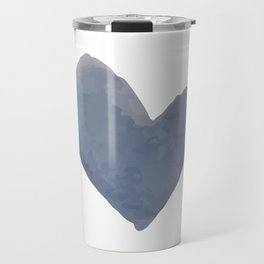 Chambray Heart Travel Mug