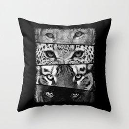 Primal Instinct - version 3 - no text Throw Pillow