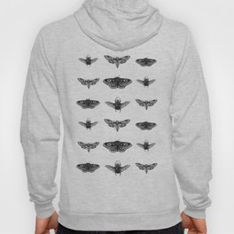 insects in gold - moths and beetles Hoody