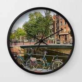 Canal Crossing - Amsterdam Souvenir Wall Clock
