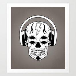 Groovy Skull Art Print